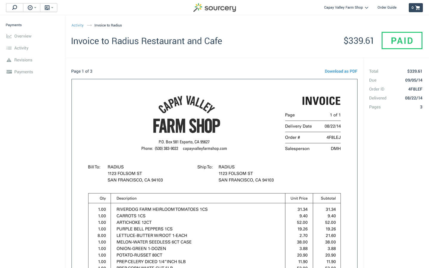 Opportunitycaus  Pleasing Wholesale Food Vendor Invoicing  Sourcery With Extraordinary Screenshot Of Vendor Storage With Charming Ariba Invoice Also What Is Factory Invoice Price In Addition Typical Invoice And Copy Of Invoice Template As Well As Car Invoice Prices By Vin Additionally Honda Accord  Invoice Price From Getsourcerycom With Opportunitycaus  Extraordinary Wholesale Food Vendor Invoicing  Sourcery With Charming Screenshot Of Vendor Storage And Pleasing Ariba Invoice Also What Is Factory Invoice Price In Addition Typical Invoice From Getsourcerycom